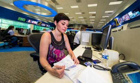 Ciara Frisbie in newsroom