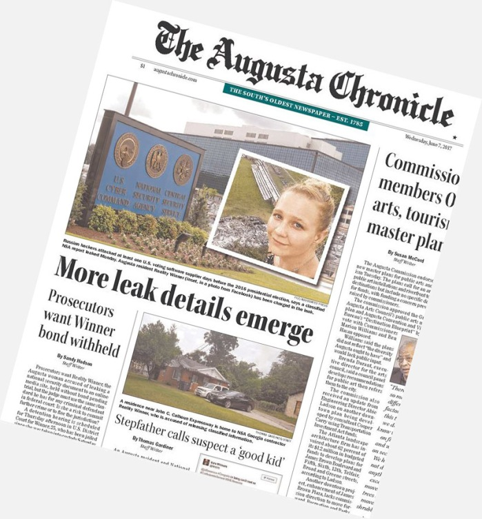 Augusta Chronicle Reality Winner