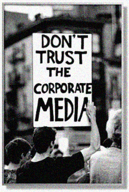 Don't trust the media sign