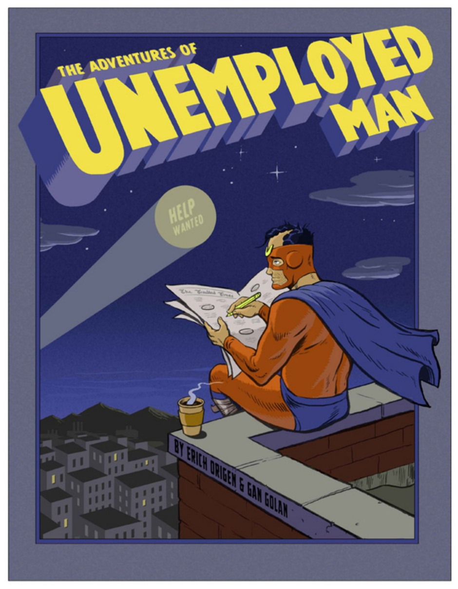 Unemployed man art