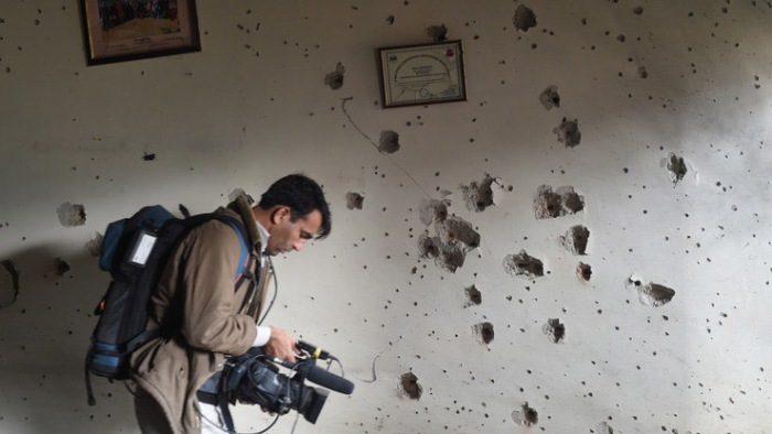 Violence against journalists Pakistan asia news photo