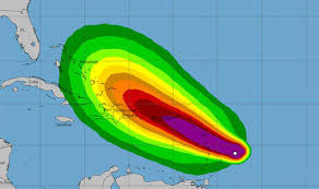Hurricane Maria tragectory
