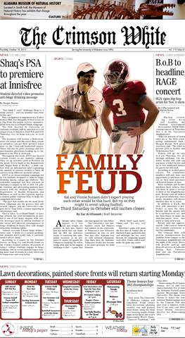 Crimson white front page