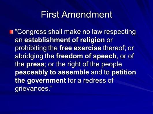 First Amendment Jeopardy question