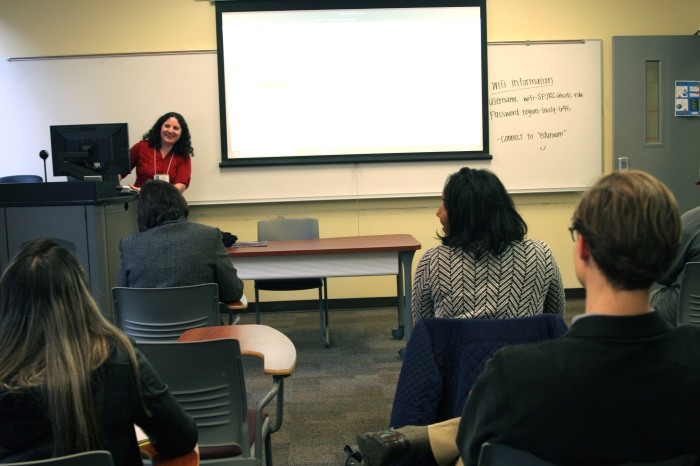 Adina Solomon at conference