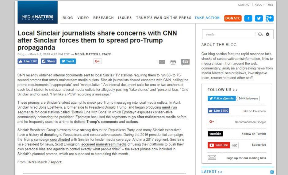 Media Matters capture