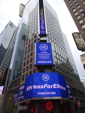 SPJ Ethics Week Times Square