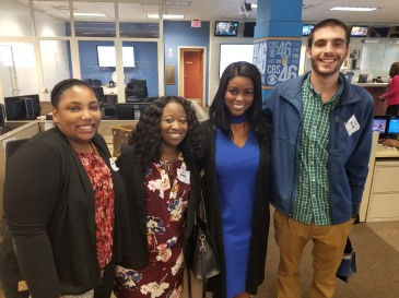 FMU trip and CBS 46 2 with reporter.jpg