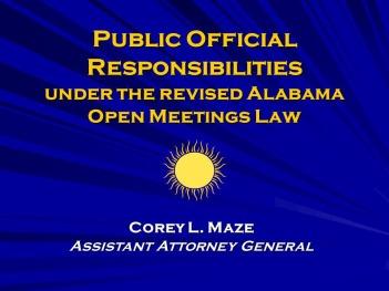 Alabama open meetings art