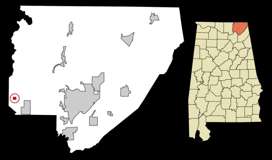 Paint Rock Alabama map