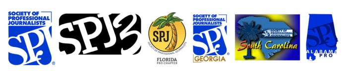 SPJ logo with region and chapter logos