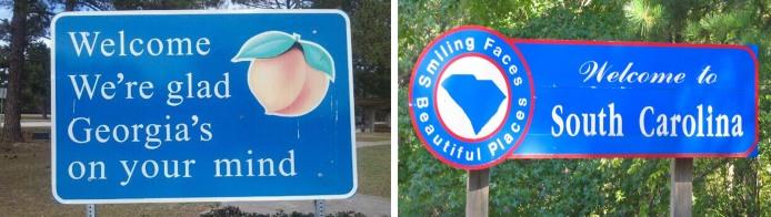 Georgia South Carolina signs