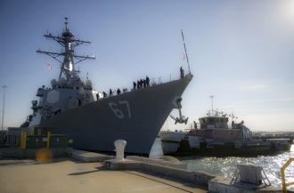 Navy ship via Wavy